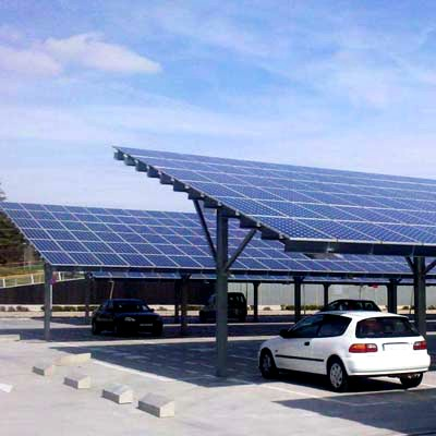 Big Carport Solar Mount Structure