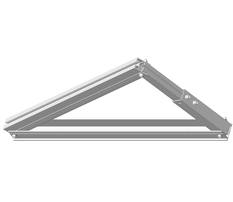 Flat Top Concrete  Tripod PV Mount Structure 4