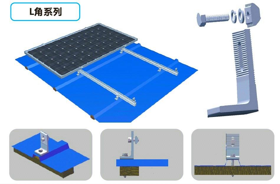 Tin(metal) Roof Solar Mount System 3