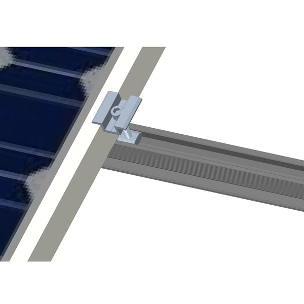 Middle clamp of solar mounting system