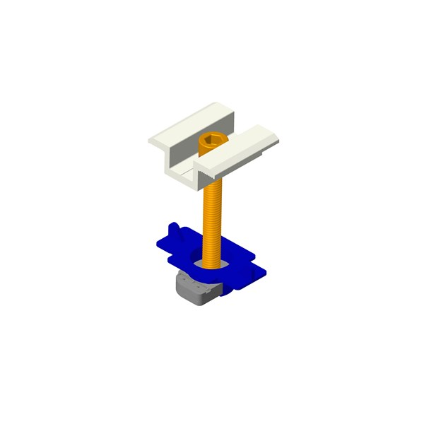 Middle clamp of solar mounting system 4