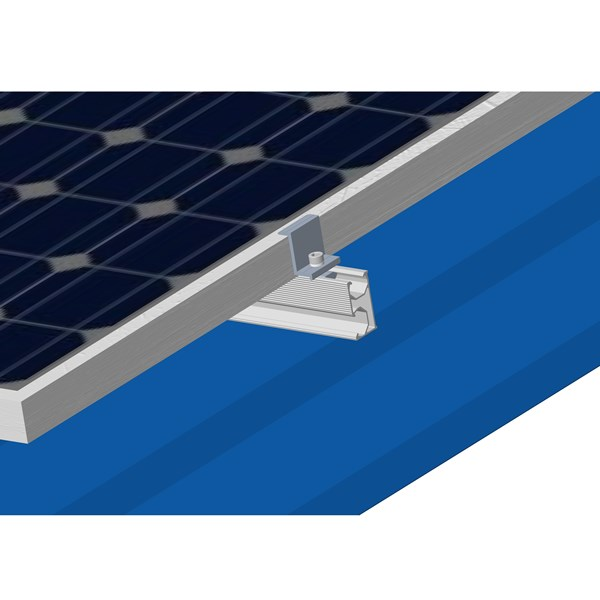 End clamp of solar PV bracket system