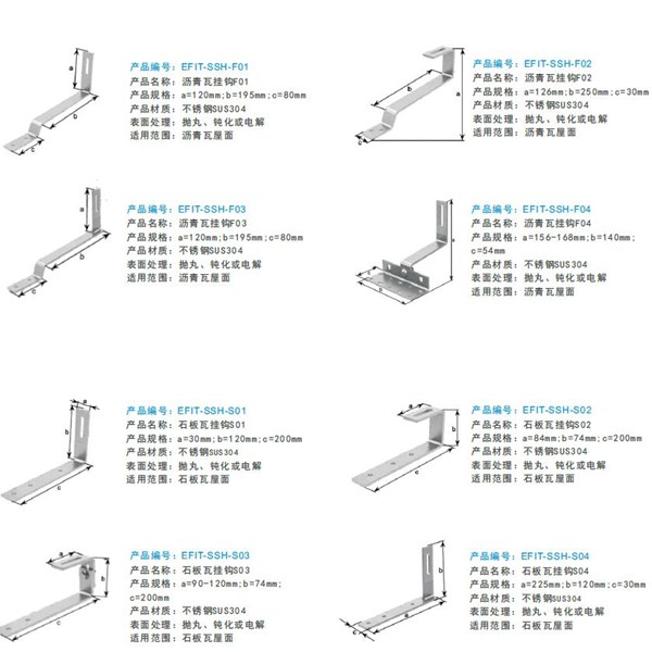 The hook of tile roof for solar mounting system 3