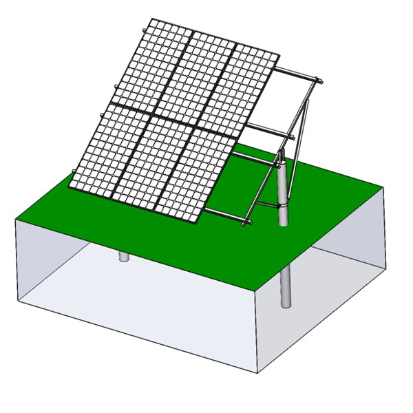 Single-column agriculture PV mount structure 2