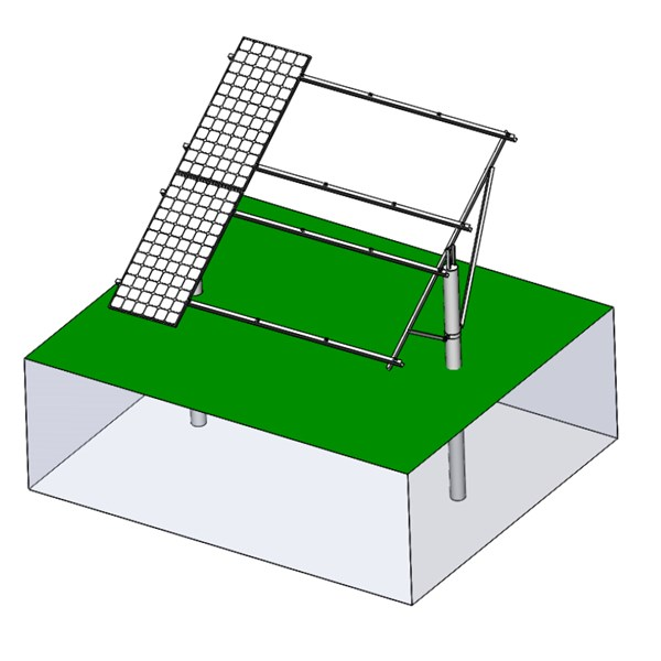 Single-column agriculture PV mount structure 3
