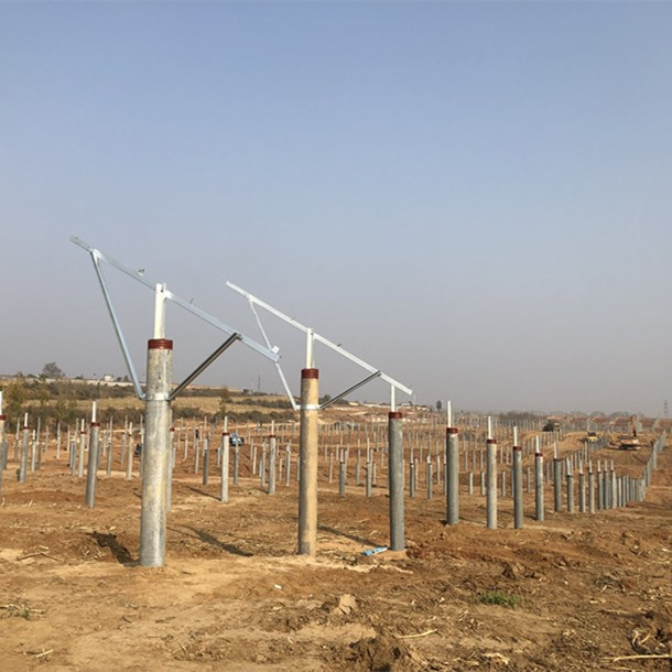 Agricultural hot dip galvanized solar PV mounting  has arrived at the scene and is being installed